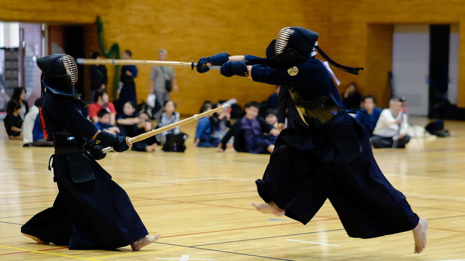 Balance Blurred Motion Budo Full Length Hobbies Kendo Lifestyles Men Real People Rear View Selective Focus Side View Sport Sports Sports Photography Swordman Ship The Portraitist - 2016 EyeEm Awards