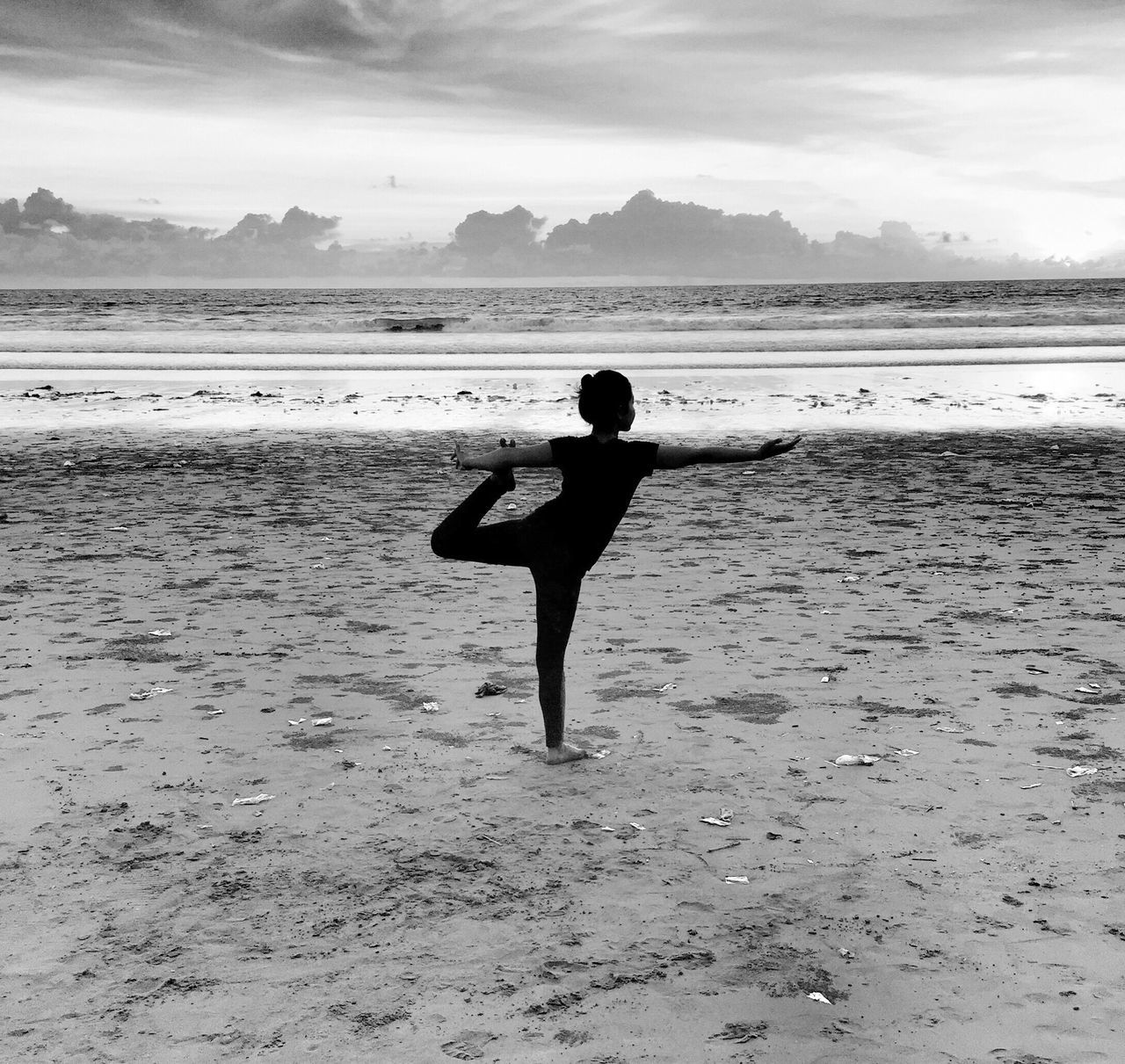 The Great Outdoors - 2017 EyeEm Awards Beach Water One Person Getty Images Shootermag_australia Beauty In Nature TheMinimals (less Edit Juxt Photography) Black And White Photography Sea