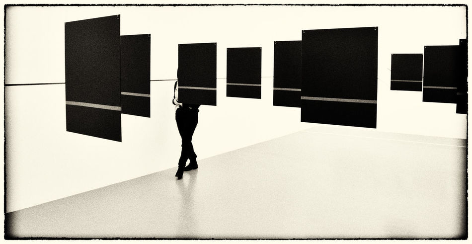 Your only half there you know? Art Is Everywhere Artgallery Black & White Black And White Blackandwhite Day Indoors  Minimal Minimalism Minimalist Minimalobsession Monochrome One Person People Real People Sepia Standing