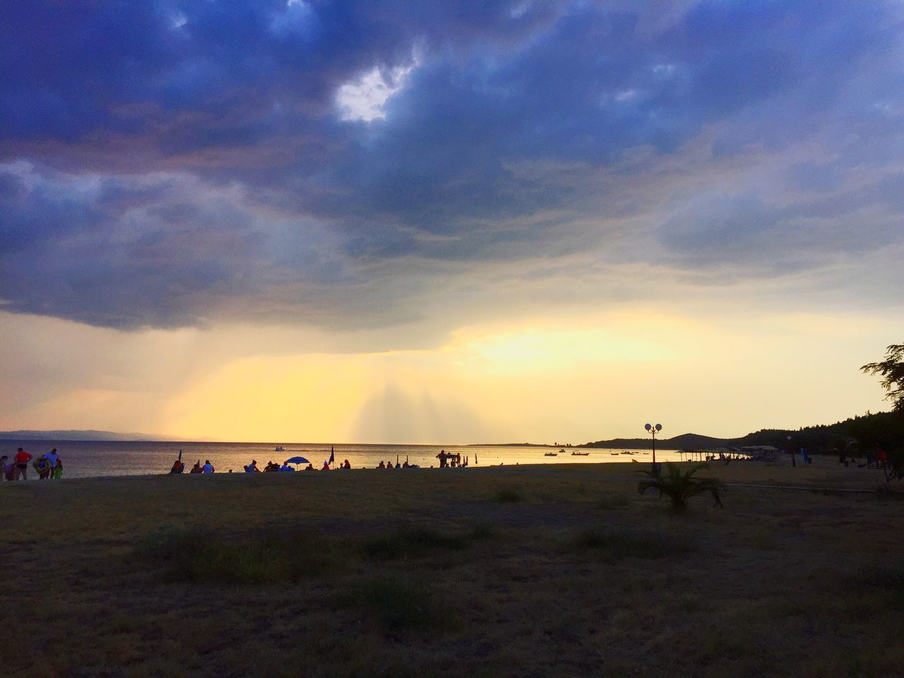 in Toroni Greece Ellada  Sithonia with a Thunderstorm over Kassandra Colours Sea And Sky Aegean Sea Sun Beautiful The Great Outdoors - 2016 EyeEm Awards The Essence Of Summer