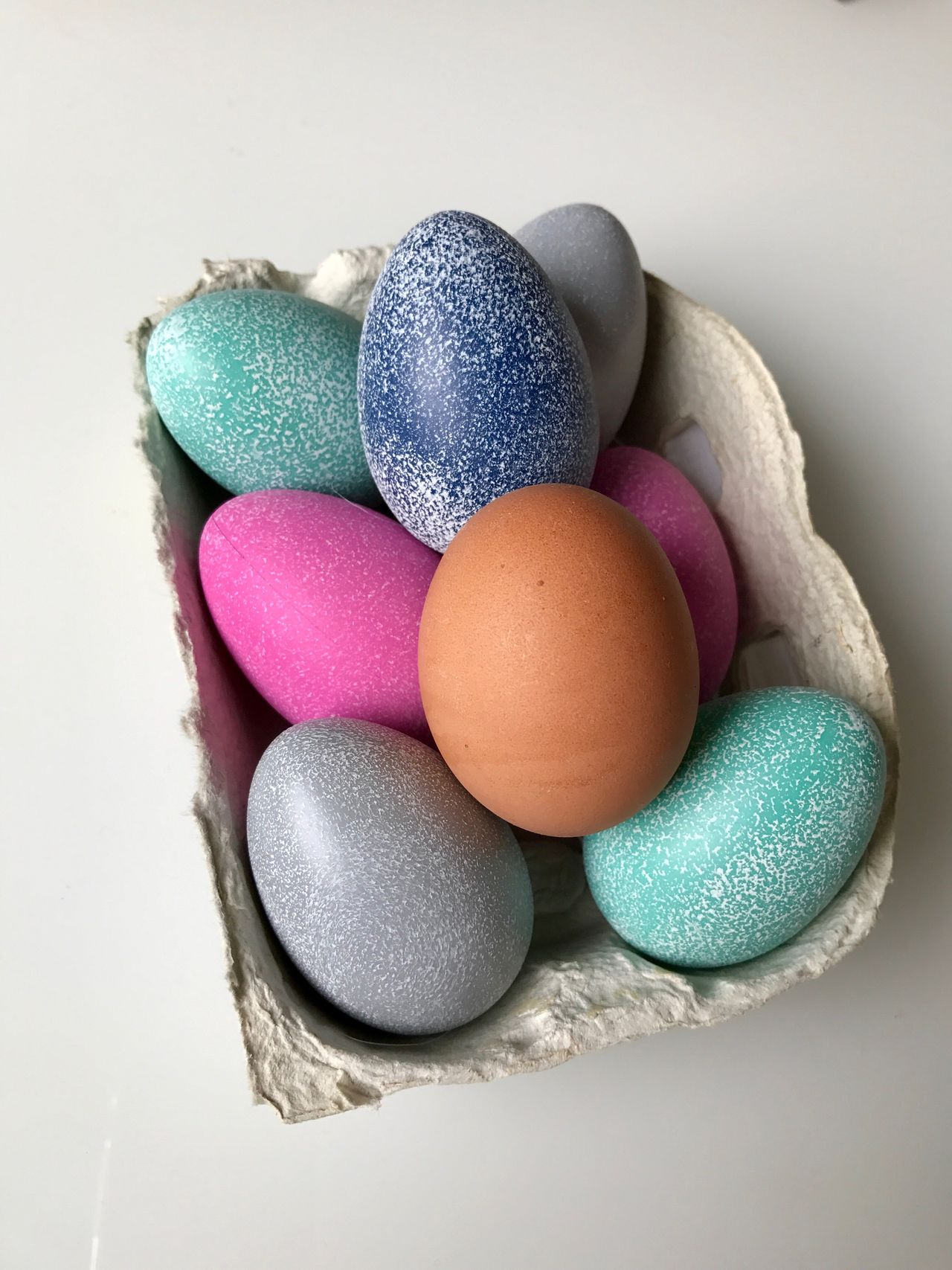 Easter Easter Egg Multi Colored Studio Shot Tradition Food Close-up No People Celebration Food And Drink Egg Carton Indoors  White Background Holiday - Event Freshness