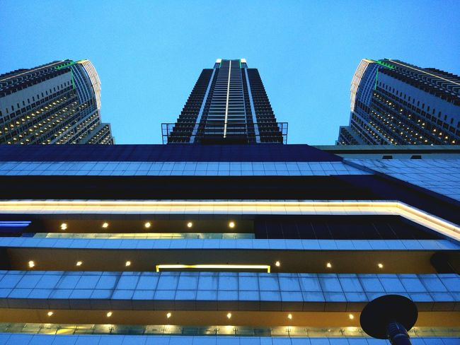 EyeEmNewHere Architecture Skyscraper Night Low Angle View Sky Modern Leisure Time
