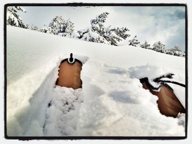 #FF #fotofriday Para @69vagamundos @zampus @luis_tramon @makotogim @dansanphoto @pintxo  #esquídemontaña #sunrise #skimountaineering #amanecer #training #gasss #mountain #peñalara #ilovemountain #powdersnow #abriendohuella