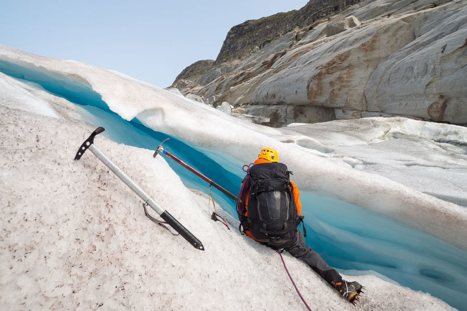 Walk on Haugabreen Adventure Jostedalsbreen Blue Ice Blue Sky Challenge Cold Cold Temperature Crevasse Glacier Hiking Ice Icescape It's Cold Outside Landscape Man Mountain Ice Age Outdoor Blue Wave Real People Remote Rock Scenics Wanderlust Adventure Club