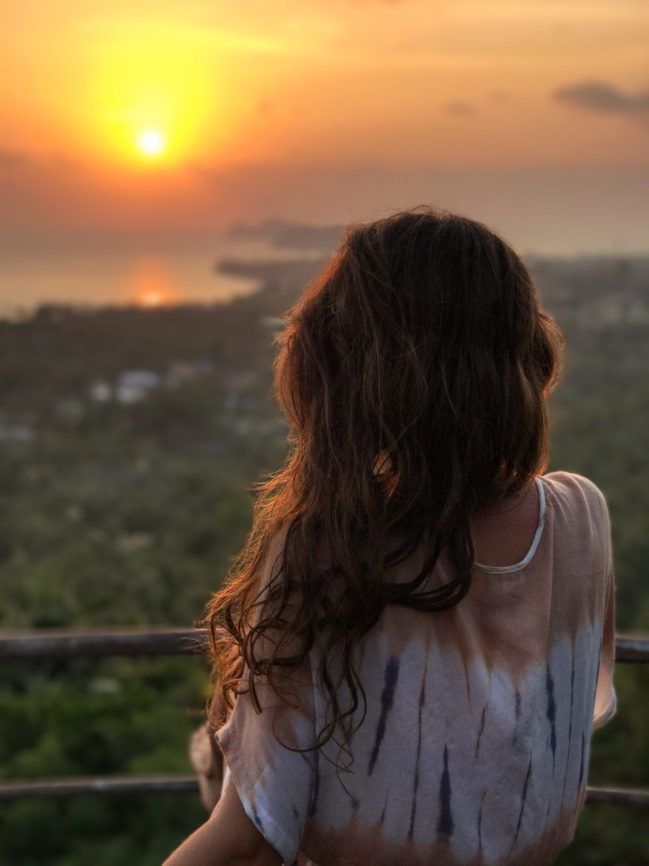 Adult Adults Only Beauty Beauty In Nature Close-up Enjoying The View Human Body Part Human Hair Nature One Person One Woman Only Only Women Outdoors People Rear View Scenics Sea Sky Standing Sunset Travel Destinations Vacations Water Women Young Adult