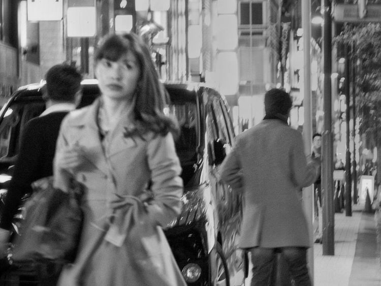 B&w Street Photography Streetphotography_bw Photography In Motion Night People Snapshot Nightphotography Street Light Snapshots Of Life On The Road City Life Blur City Lights City Street Ginza 銀座 , Tokyo Japan