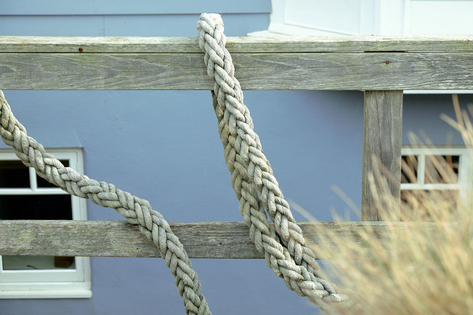 Details - Arrangement Blue Close-up Day No People Outdoors Parallel Rope Sandy Sea Security Strength Wood