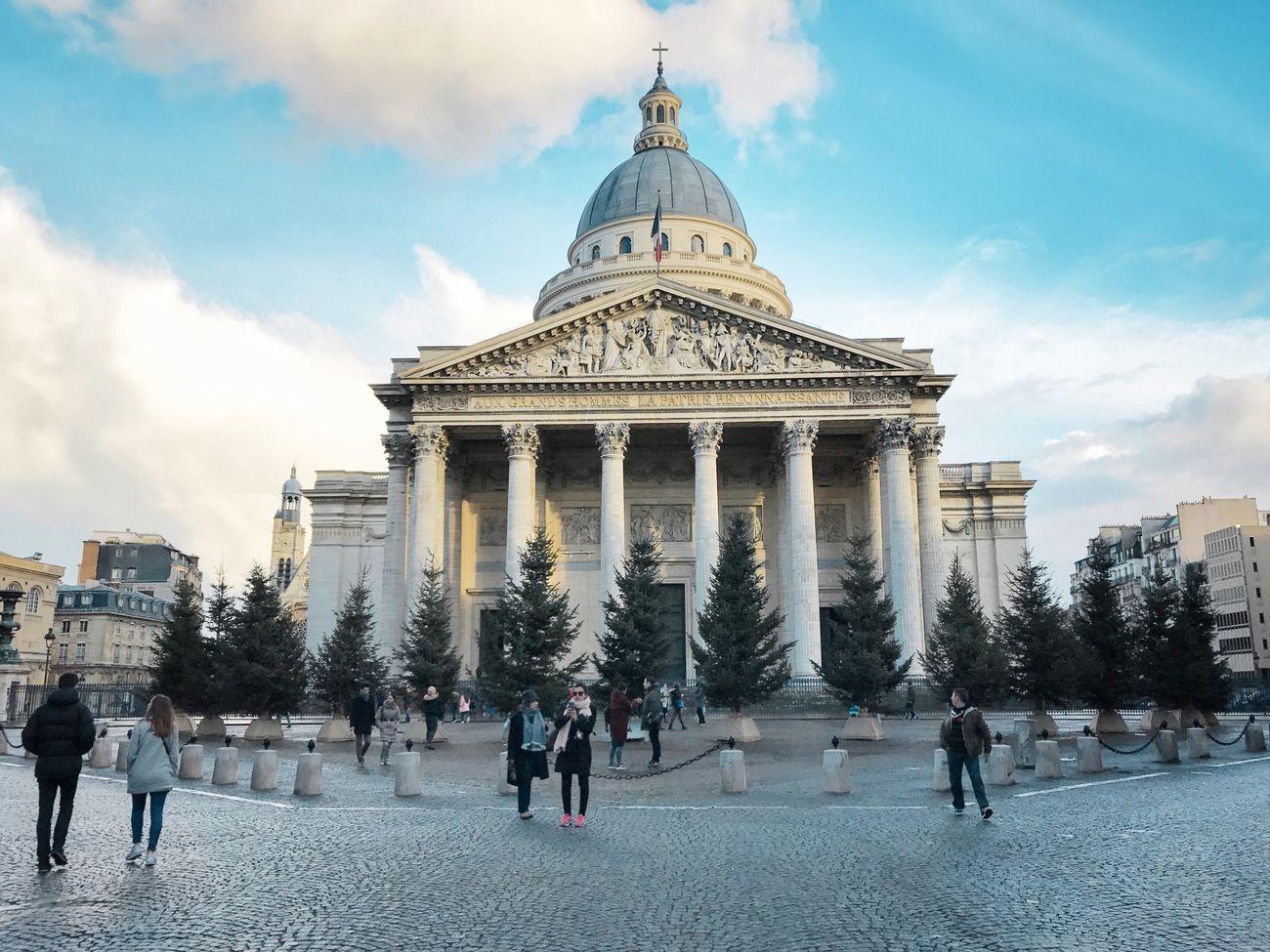 Panthéon! Bonsoir Paris! Dome Building Exterior Architecture Cloud - Sky Tourism Paris ❤ Photooftheday Eyem Best Shot - Architecture Paris EyeEm Best Shots Parisweloveyou