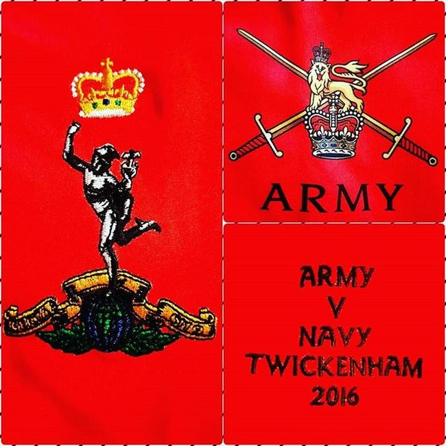 Got the tickets, now the shirt. Roll on the game. Rugby Army RoyalSignals Jimmy ArmyVsNavy Twickenham @armyvnavyrugby