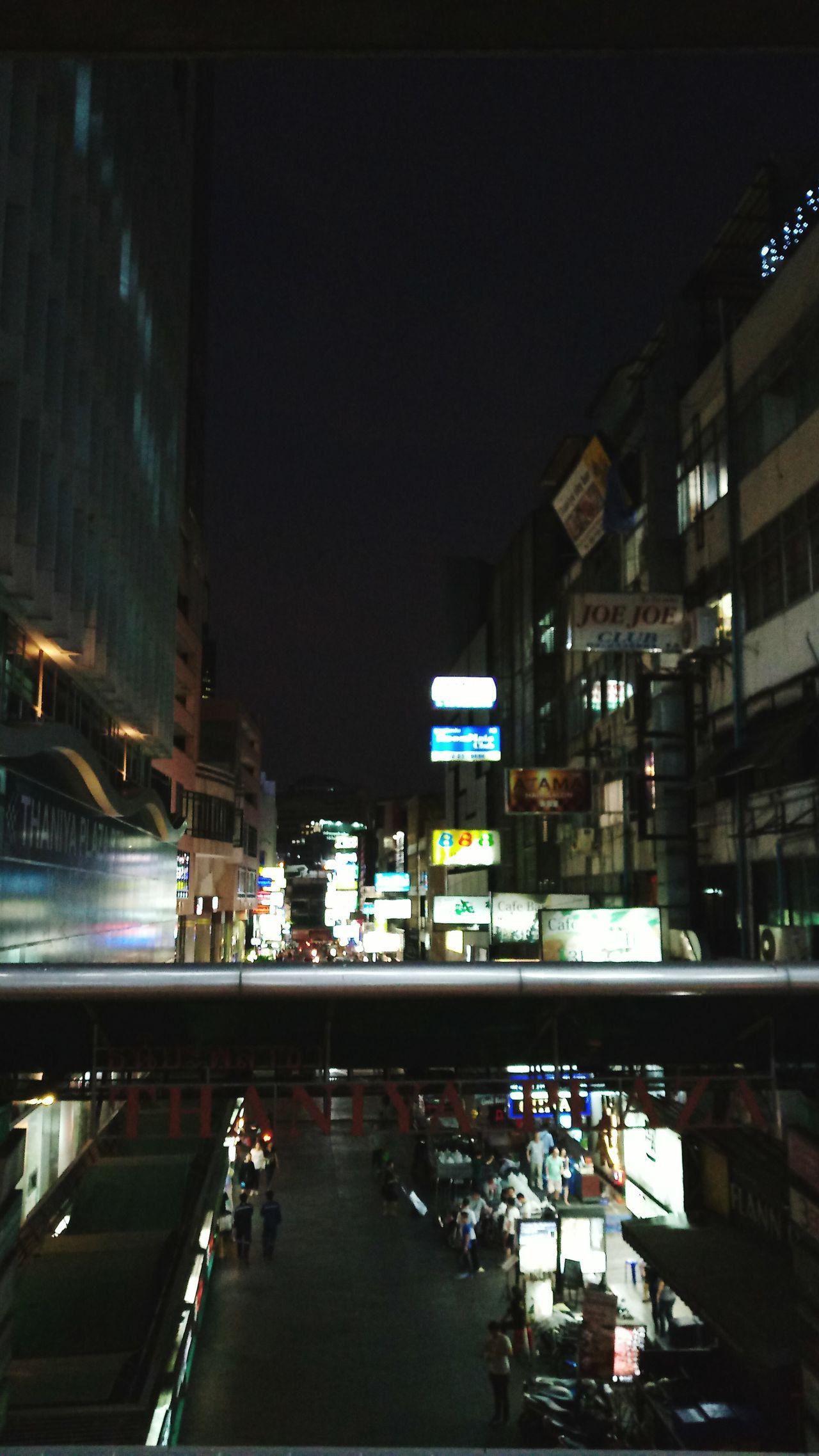 Illuminated Night Travel Destinations Silom, Thaniya Bangkok Thailand.