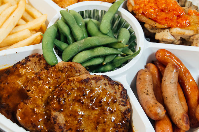 Choice Close-up Dinner Eat Enjoy Food Foodie French Fries Freshness Hamburg Steak Happy Time Indulgence Meal Mealtime Meat Party Time Potato Ready-to-eat Rows Of Things Sausage Served Serving Size Still Life Taste Good Variation