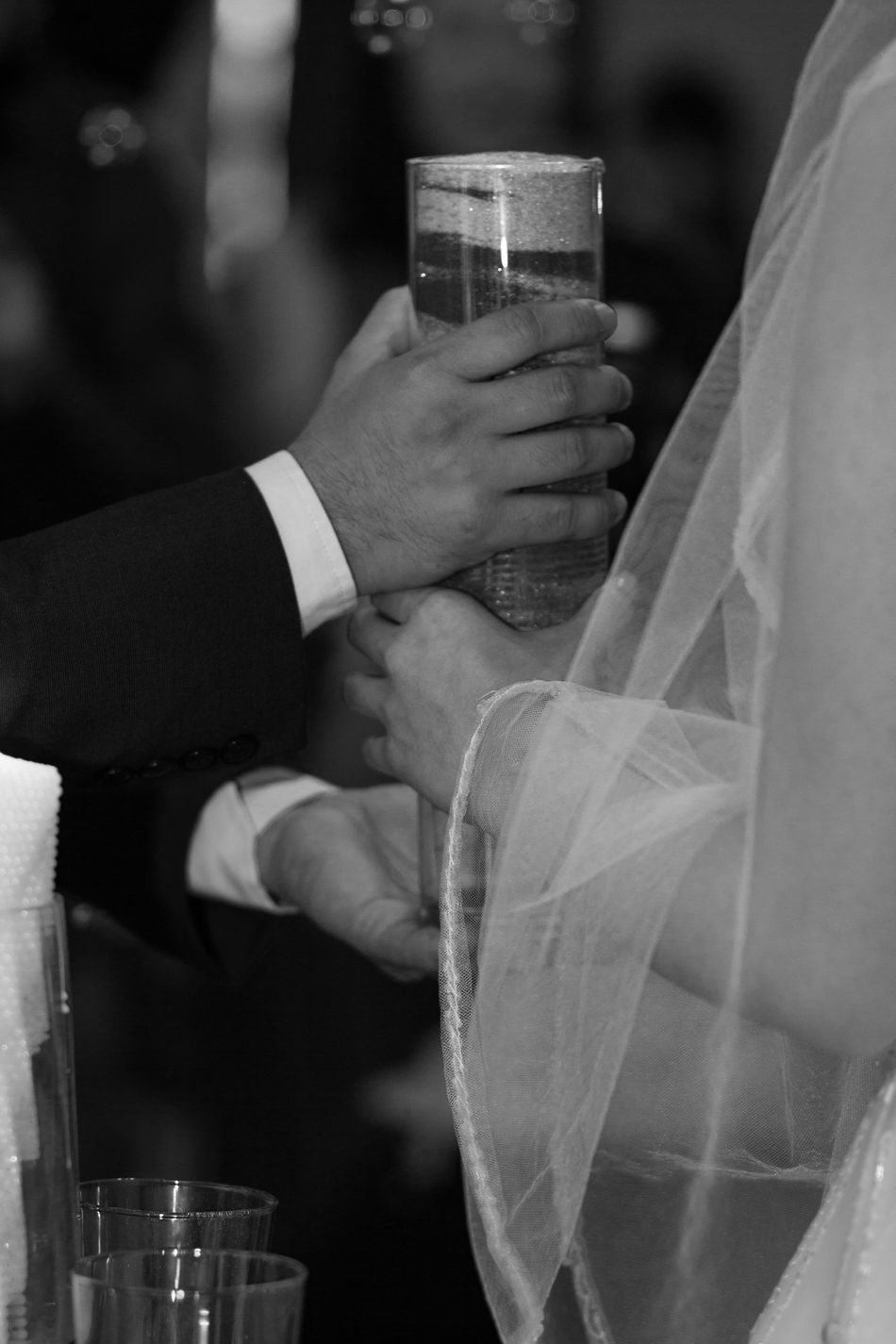 Bonding Bride Bridegroom Celebration Ceremony Close-up Couple - Relationship Groom Holding Human Body Part Human Hand Indoors  Life Events Love Men Midsection Night Real People Togetherness Two People Wedding Wedding Ceremony Wedding Dress Well-dressed Women