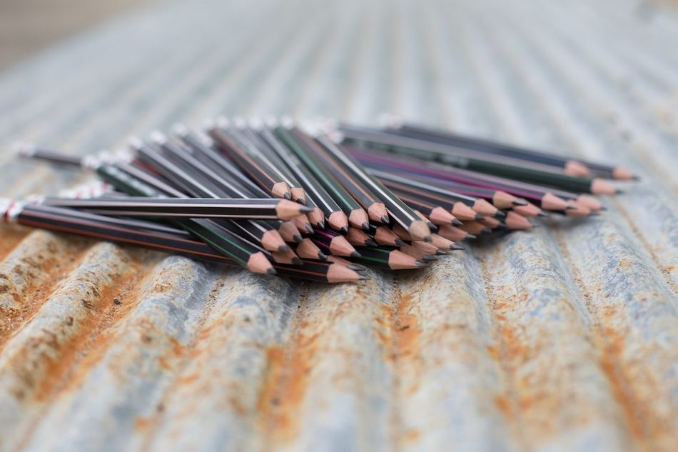 Beautiful stock photos of pencil, Concepts, Corrugated Iron, Day, Education