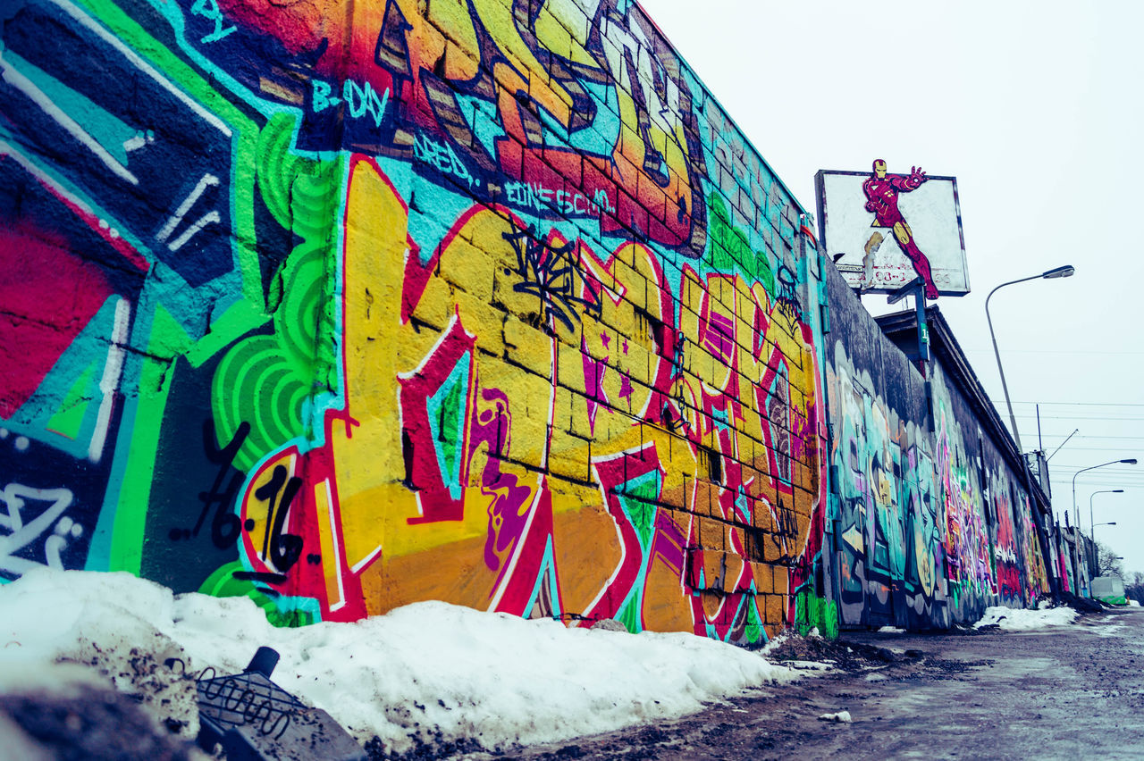 Took a ride with my love to an industrial area outside Stockholm where graffiti bloom. Nice to get som colours to break the wintry grey. Location: Bandhagen, Stockholm. Awesome City Life Colour Colourful Contrasts Enjoying Life EyeEm Freeyourcamera Graffiti Graffiti & Streetart Graffiti Art Graffiti Wall Grey Justgoshoot Street Street Art Street Photography Streetart Streetphotography Visualsofearth Visualsoflife Winter