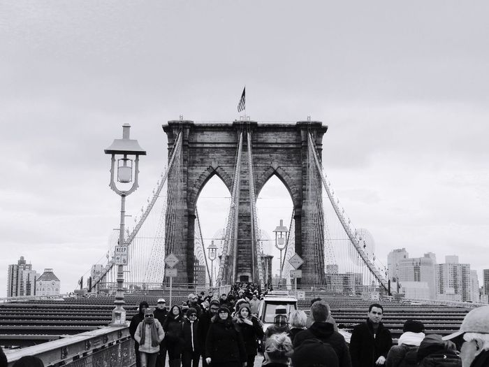 NYC NYC Photography Brooklyn Bridge / New York Blackandwhite Winter New Year Around The World Architecture First Eyeem Photo