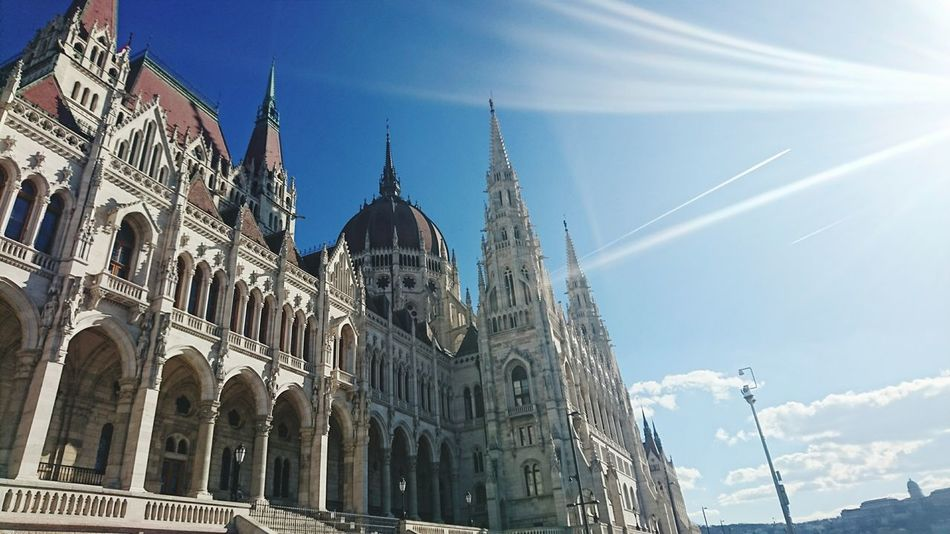 Budapest, Hungary Architecture Orszaghaz History Outdoors Beautiful City Politics And Government Parlament Of Hungary Travel Tourism Building Exterior Sky Architecture