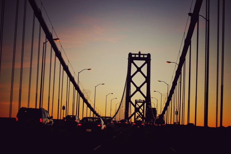 The sun is setting. Sunset_collection Sunset Sunset Silhouettes San Francisco Bay Bridge Love To Travel