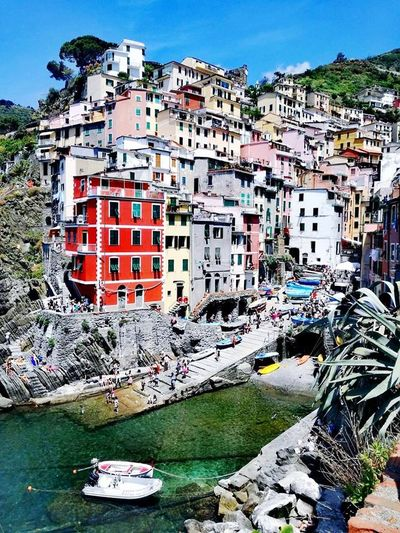 Architecture Nautical Vessel Outdoors Building Exterior No People Day Built Structure Water Travel Destinations City Sky Italy Cinqueterreitaly Cinqueterre