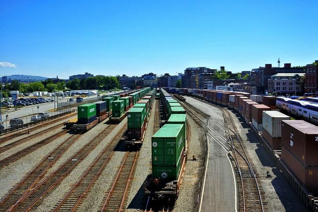 Canada Transport Freight Transportation Freight Train Train Train Tracks Vancouver Vancouver BC Vancouver Island Cargo Cargo Container Industrial