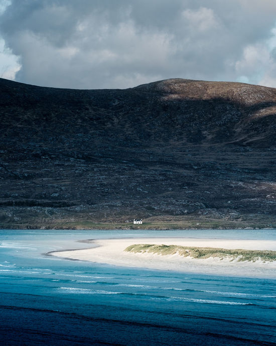 The Luskentyre House Beach Cloud - Sky Clouds And Sky Cottage Folk House Island Island Life Isle Of Harris Isolated Landscape Luskentyre Beach Nature No People Outdoors Outer Hebrides Remote Rural Scene Scotland Scottish Scottish Highlands Sky Uk Water Waves
