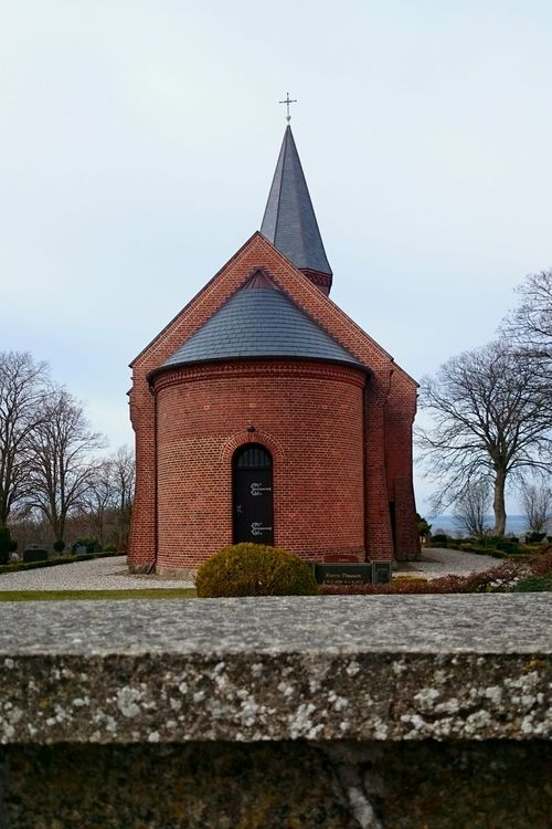 The Church in Vrinners All other churches in this Mols area are remarkably old except for this so it might be a bit neglected. Still it has its beauty. Stone Wall Bricks Brick Brick Church Trees Cemetary Kirke Vrinners Kirke