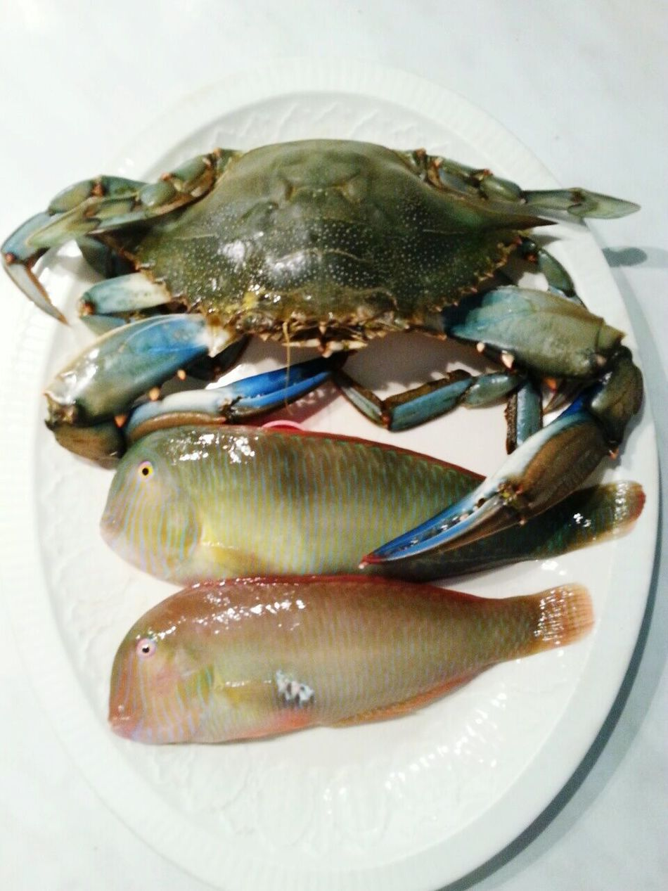 Mrs & Mr Parrotfish and Mr Crab Couple Parrotfish Crabs Mediterranean Gourmet Gourmet My Master Chief Mediterranean Food Flavours On The Table A Taste Of Life