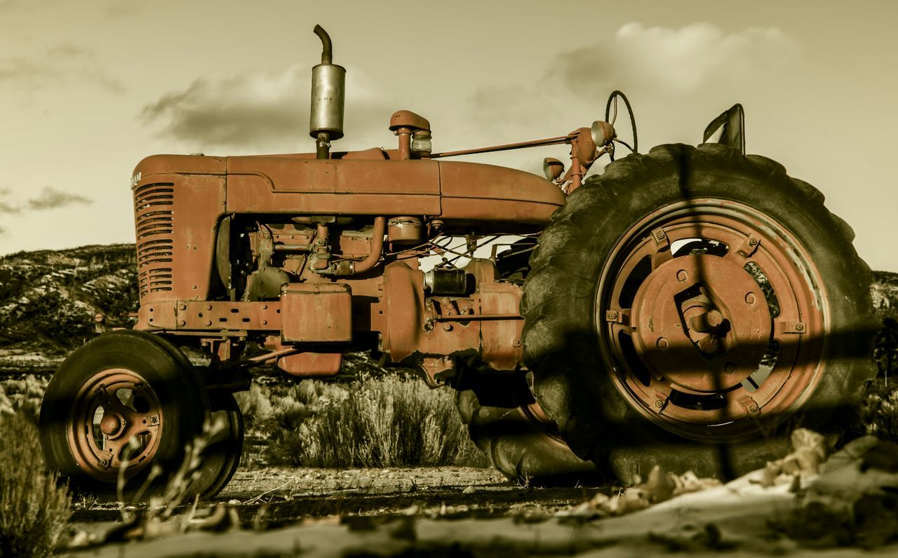 Saw this beauty while driving around in Frazier park ca Old No People Vintage Farm Life Farm Equipment Old Tractor Vintage Tractors Tractor Ranch Abandoned Abandoned Vehicle Broken Farm On The Farm Old Tractors Rusty Rusted Metal  Check This Out EyeEm Best Shots EyeEm Best Edits EyeEm Gallery 1951 Farmall Tractor Model M