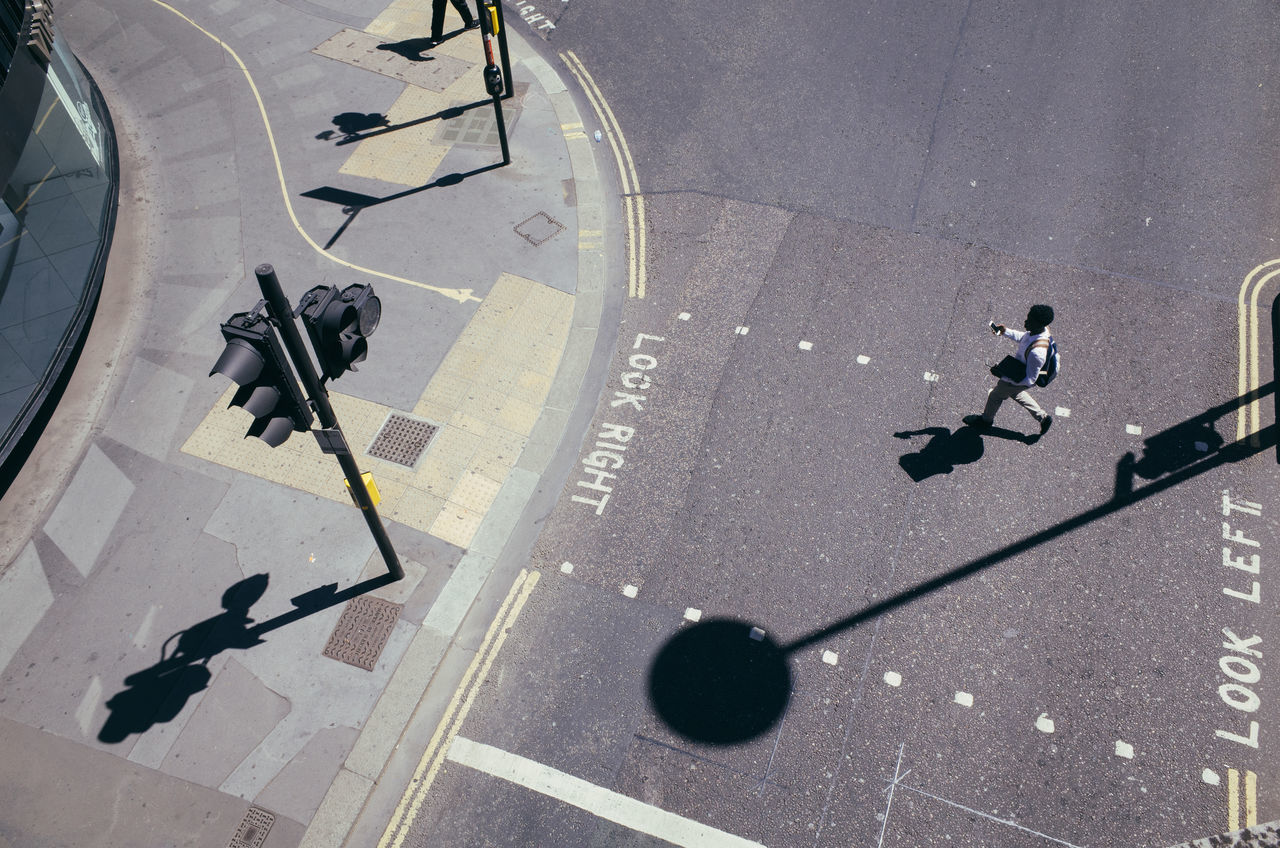 A Bird's Eye View Bar Barbican City City Life Elevated View High Angle View London Road Shadow Streetphotography Urban