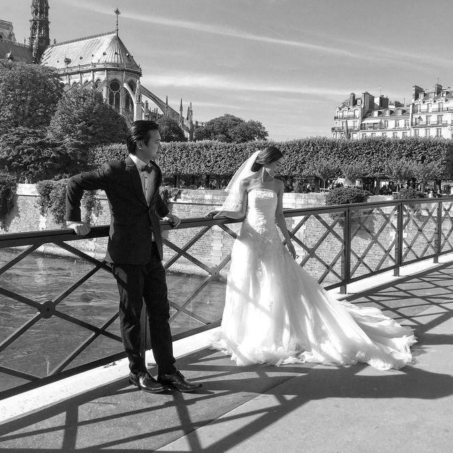 Good Evening Paris! Bonsoir Paris! Parisweloveyou Photooftheday EyeEm Best Shots Paris Paris ❤ Notre Dame De Paris Wedding EyeEm Black&white! Blackandwhite Wedding Dress