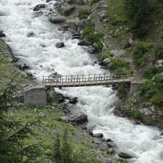 InstapicPicoftheday Beauty Nature River View Bridge Chamba Bharmor Himachal Instahimachal Goldythakur 13 Instalike Flow  Peace Love Travel Own HP India Bharat Hindustan Source Life God landearth