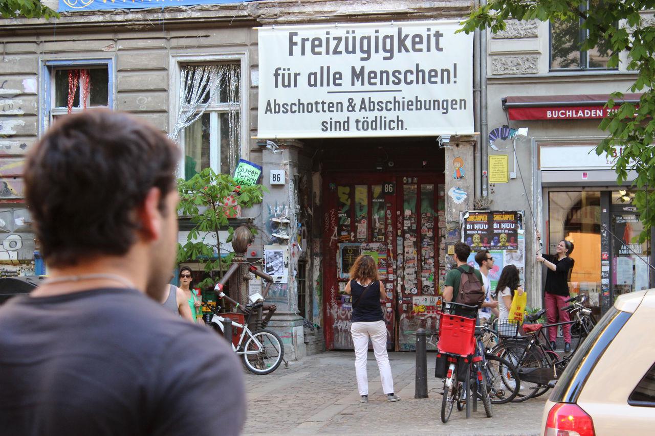 Wall - Building Feature Berlin Mitte Street Photography Streetphotography Berlin Street City Life Protest Freedom Freizügig Freizügigkeit