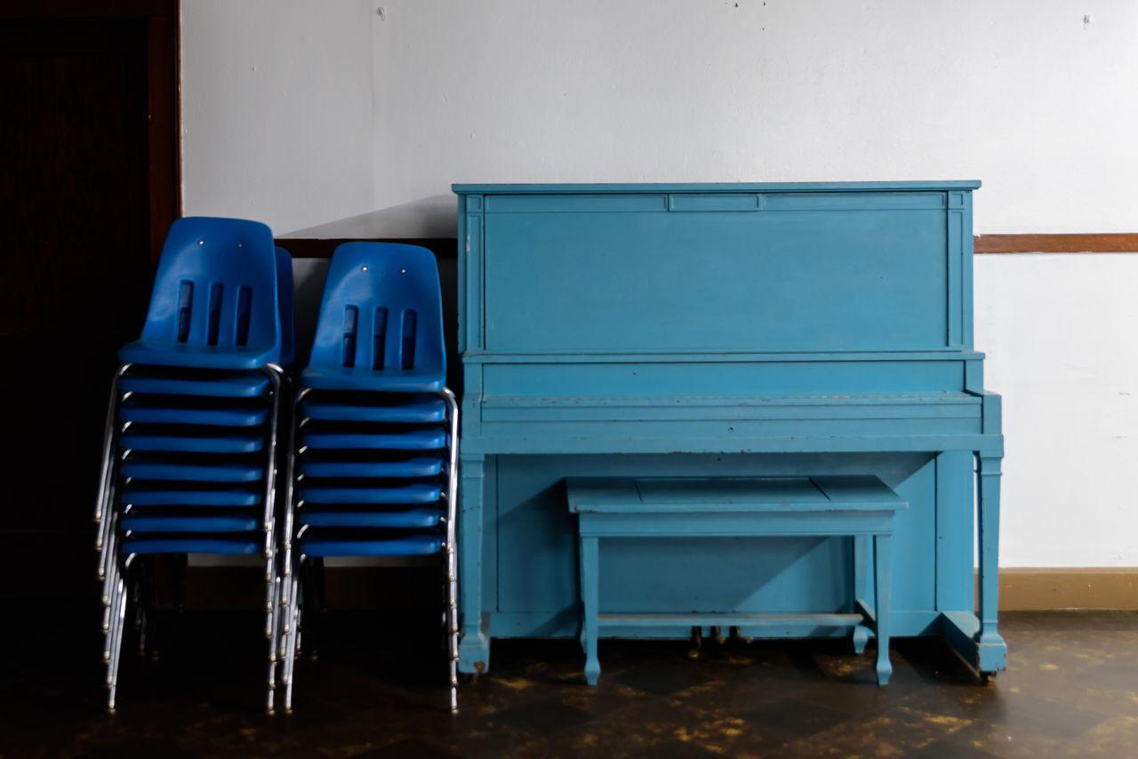 Piano, Blue, Church Basement, Waiting,