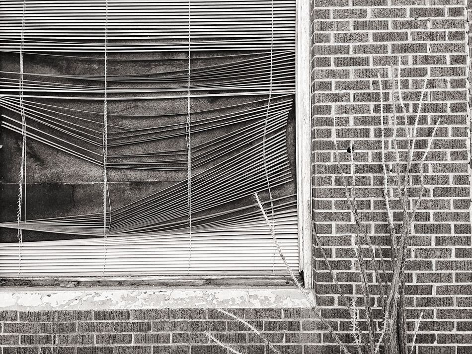 Pattern Architecture Built Structure Textured  No People Day Backgrounds Building Exterior Outdoors Marfa Texas Monochrome Photography Decay Brick Wall Window Blinds