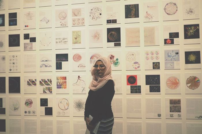 Your data are on this wall Photography Photooftheday Hijabi Science Museum  Data Science And Technology Art, Drawing, Creativity
