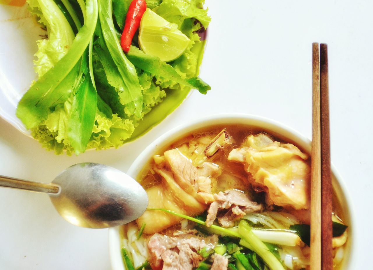 Banh Canh Gio Heo Bowl Bun Bo Hue Bánh Canh Cá Chopsticks Close-up Day Directly Above Food Food And Drink Freshness Healthy Eating Indoors  No People Noodles Pho Ready-to-eat Seafood Soup Vegetable