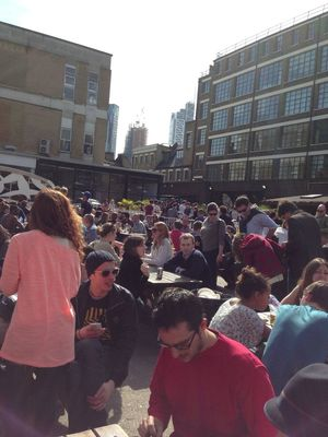 Relaxing at Brick Lane Market by Jan Sobota