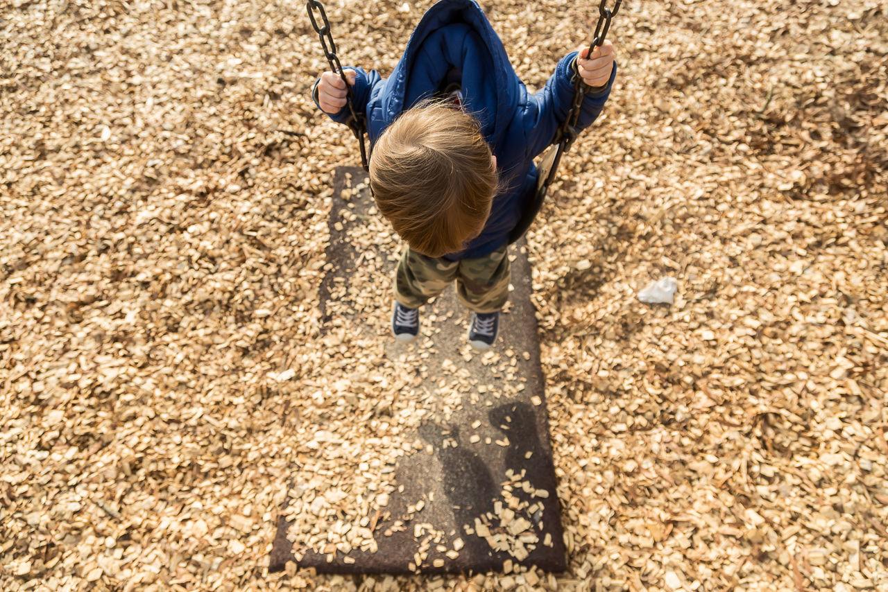 Child Childhood Childhood Memories Outdoors Playground Playground Equipment Playing Swing