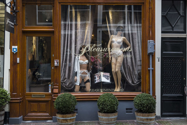 Amsterdam Erotiek Erotık Fashion Front View Lingerie Netherlands Pleasure Sensuality Shop Window
