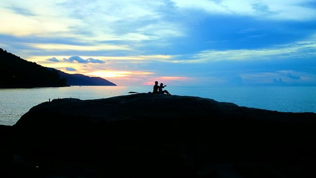 enjoy the Sunset view Sunset Silhouettes Landscape Love