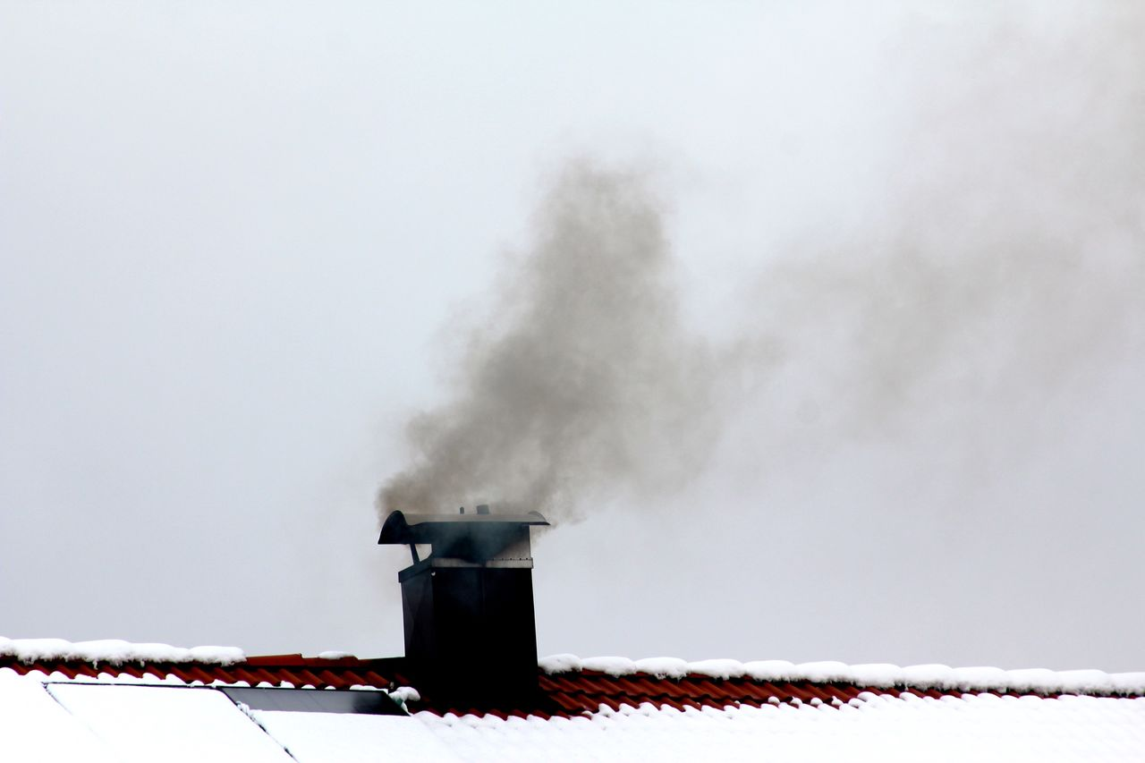 Beautiful stock photos of smoke, Chimney, Clear Sky, Cold Temperature, Copy Space