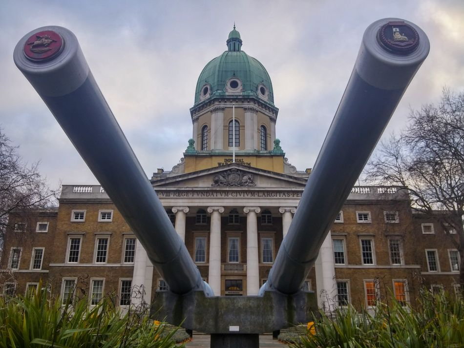 Imperial War Museum of London Architecture City Building Exterior No People Travel Destinations Sky Imperial War Museum Imperial War Museum London Cannons War Symmetries Museum Architecture Urban Urban Geometry