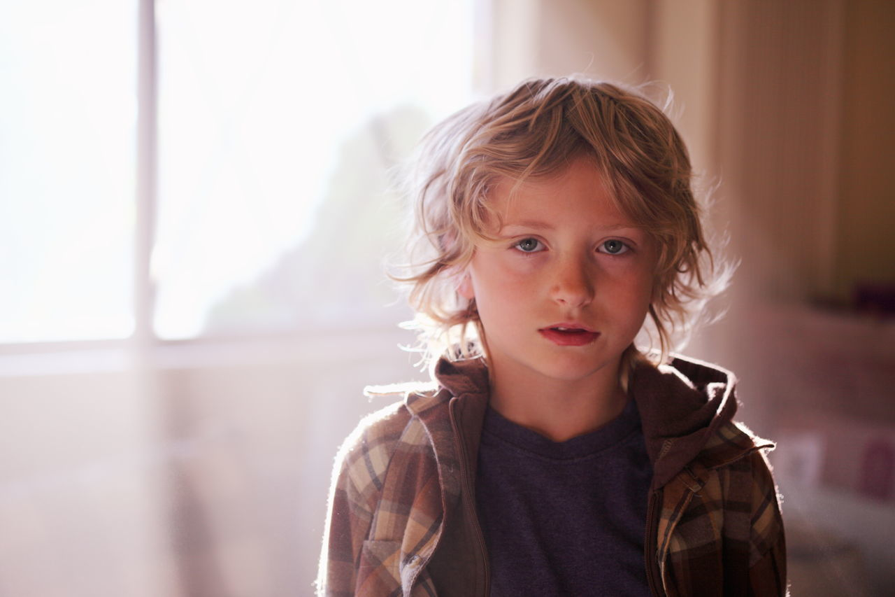 Beautiful stock photos of kids, 6-7 Years, Blond Hair, Boys, Casual Clothing