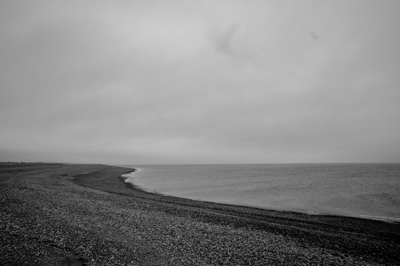 Beach Beauty In Nature Black And White Blackandwhite Day Horizon Over Water Nature No People Outdoors Scenics Sea Sky Tranquil Scene Tranquility Ukraine Water Betterlandscapes Shore Shoreline Moodiness Moody Pebbles Pebble Beach Pebble