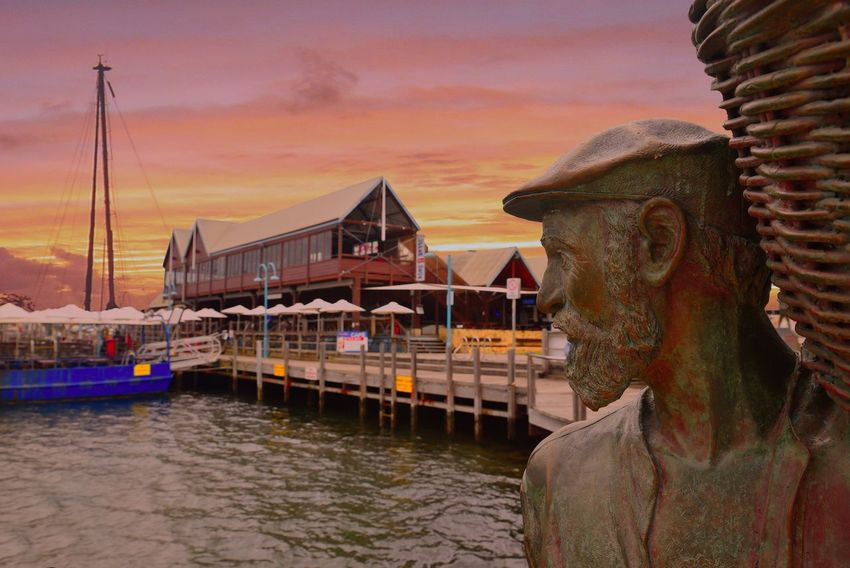 Architecture Sky Sunset Built Structure Building Exterior Outdoors Water No People Cloud - Sky Statue Nautical Vessel Close-up Nature Day Harbor Freemantle EyeEmNewHere Miles Away