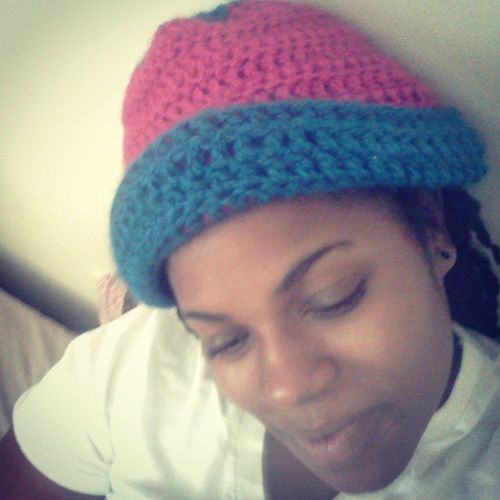 I love my hat that @hey_you_with_the_glasses made for me!!! ^_^ SistaSista  Crochet GetYoursNow