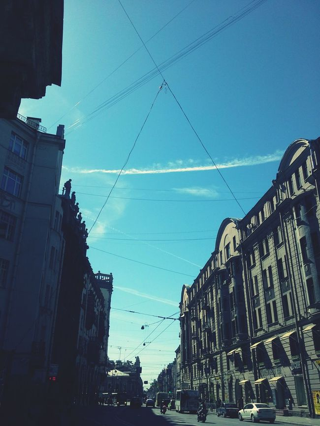 Небо в Петербурге небо небовспб провода