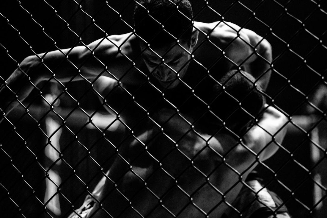 Abstract Backgrounds Barbed Wire Branch Chainlink Fence Danger Fence Fighting Focus On Foreground Full Frame Metal Mixed Martial Arts Muscles Music Outdoors Pattern Protection Safety Security Tournament