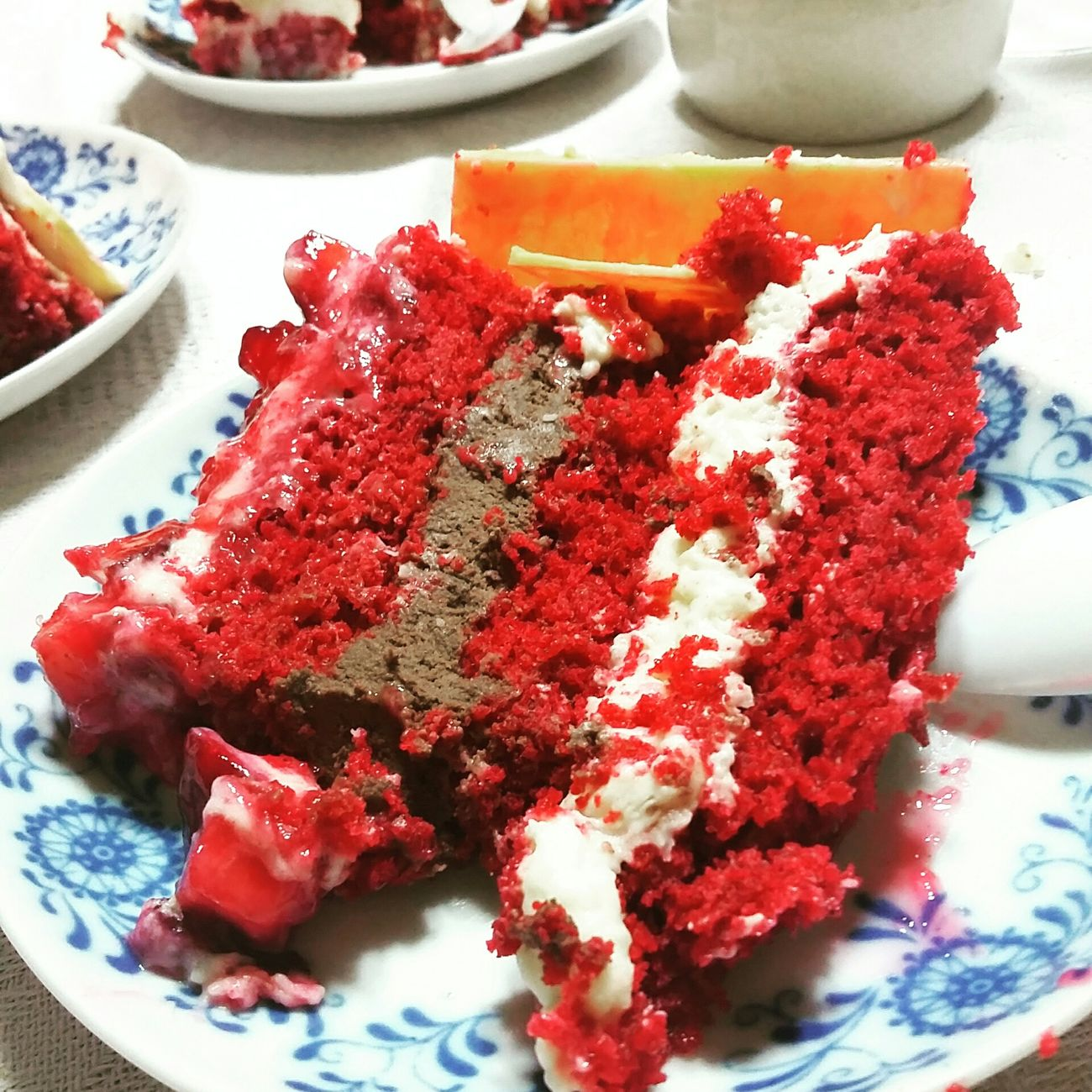 Cake: strawberry, muse of coffee and coconut cream 👌 First Eyeem Photo