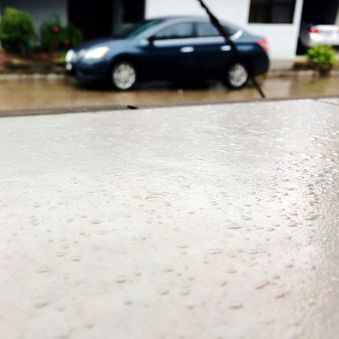 Car Rain Rainy Days Street No People Land Vehicle Mode Of Transport Outdoors Focus Transportation Food And Drink Rest & Relax Day Rainy Weather Rainy Casual Photography Streetphotography