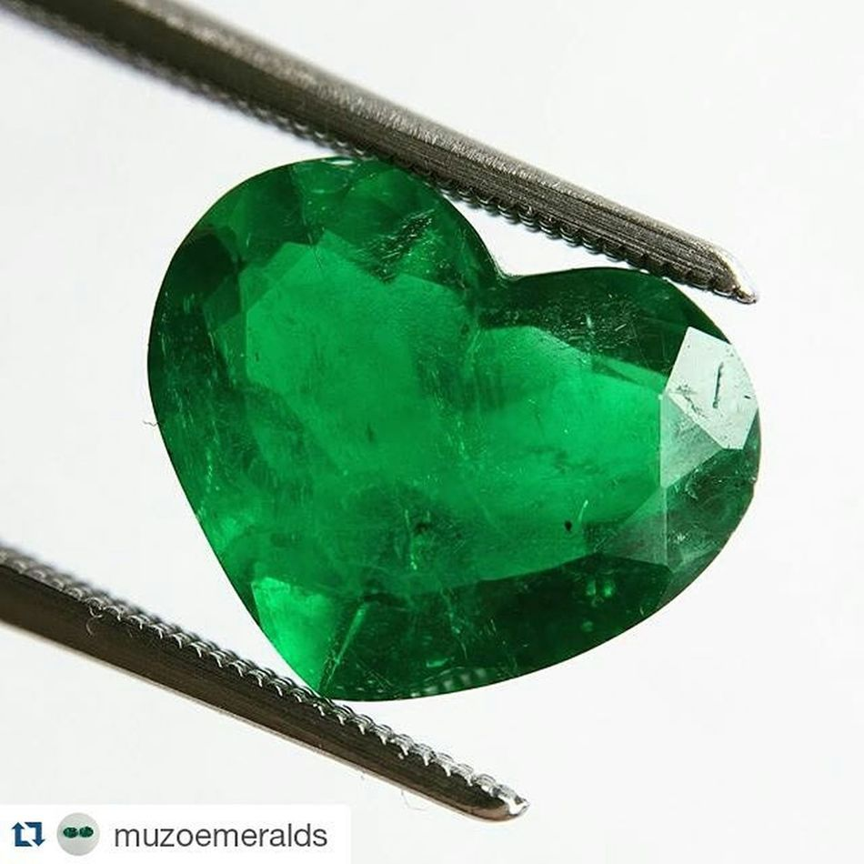 Yesilin her tonunu seviyorum...💚💚💚Repost @muzoemeralds ・・・ 4.72 Carat Heartshaped Colombianemerald from Muzo These shapes aren't for everyone but a nice rich Emeraldgreen colour nevertheless. Emerald Emeralds Colombianemeralds Bogotá Colombia Gems Gemstones GIA Grs Gübelin